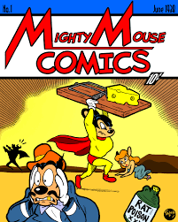 mighty mouse just fer kicks a mighty mouse vs superman action comics mashup