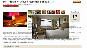 17 sloane street knightsbridge london sw1x 9nu millennium hotel