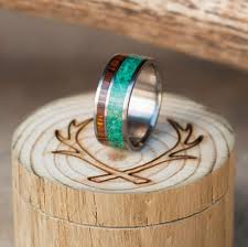 Stag Head Designs Mens Wedding Band Jade U0026 Ironwood Ring Staghead Designs 2701382