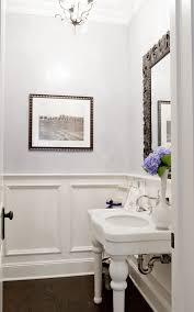 Wainscoting Bathroom Vanity Wainscoting Half Bath Powder Room Traditional With Recessed Panel