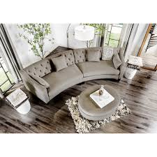 round sectional sofa aretha contemporary grey tufted rounded sectional sofa by furniture