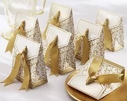 wedding favor containers 10pcs gold silver ribbon wedding favors party gift candy paper