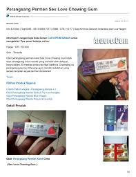 obat perangsang permen karet sex love chewing gum asli