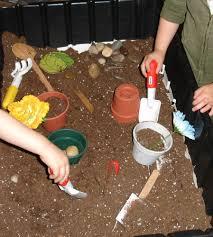 gardening in the sensory table sensory