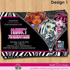 9 best images of monster high birthday invitations printable