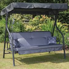 Patio Swing Cushions Furniture Patio Glider With Canopy Completed By Bedding Cushion