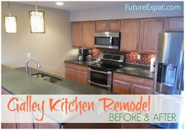 galley kitchen remodels galley kitchen remodel before after pictures future expat