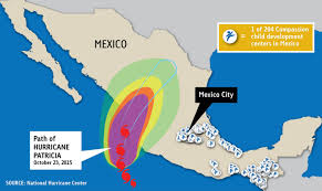 Mexico Hurricane Map by Hurricane Patricia A Call To Prayer Updated Compassion Canada
