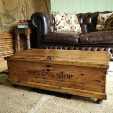 vintage trunk coffee table interior vintage trunks and chests industrial rustic farm plank