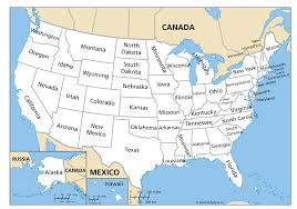 Blank Map Of The United States Of America by Us Maps With State Names United States Outline Map With State
