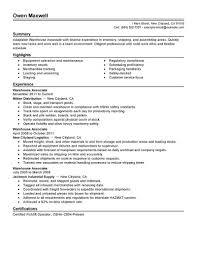 Resume Summary For Warehouse Worker 100 Warehouse Job Titles Resume Career Change Resume