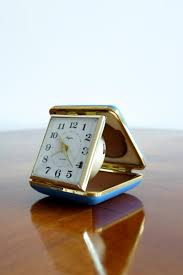 Japanese Desk Accessories by Vintage Japanese Travel Alarm Clock Form Rhythm 1950s For Sale At