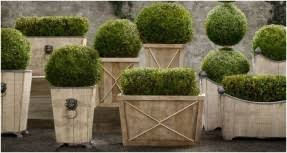 Topiary Planters - large metal planter boxes open travel