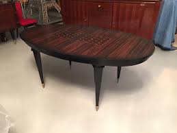 french art deco maccasar ebony oval dining table modernism