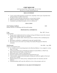 head chef resume samples visualcv resume samples database chef