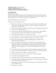 Student Assistant Job Description For Resume by Student Admin Assistant Job Description