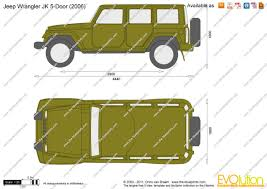 jeep van 2015 the blueprints com vector drawing jeep wrangler jk 5 door
