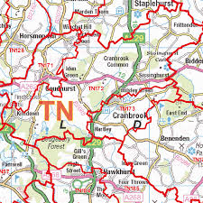 Eastern Tennessee Map by Tonbridge Tn Postcode Wall Map Xyz Maps