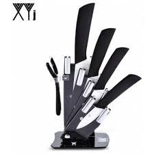 sharp kitchen knives xyj 6 in 1 sharp kitchen ceramic knives kit with peeler holder
