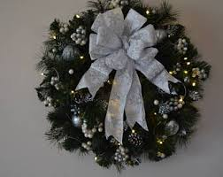 wreath artificial wreath lighted wreath