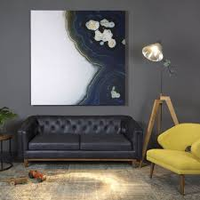 Leather Mid Century Modern Sofa by Natty Black Button Tufted Leather Sofa By I Love Living Wooden