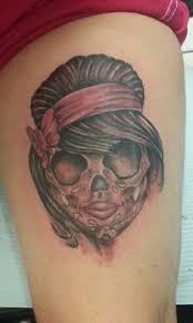 skull thigh tattoos for women google search art pinterest