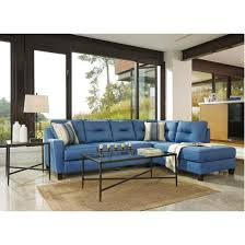 Ashley Sofa Table by Ashley Kirwin Nuvella 2pc Laf Sectional Sofa In Blue Best Priced