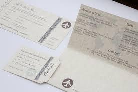 Wedding Invitations Glasgow Vintage Style Parchment U0026 Chocolate Travel Ticket Wedding