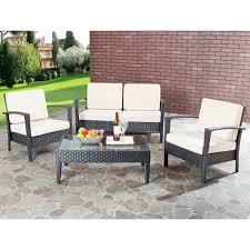 Mainstays Wicker 5 Piece Patio Dining Set Seats 4 - thy hom roatan 4 piece outdoor wicker conversation set hayneedle