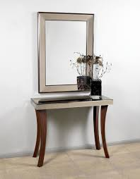 wood and mirrored console table mirrored console table wooden legs