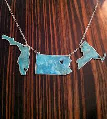 custom necklaces custom left my heart patina three state necklace jewelry