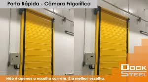Conhecido Porta Rápida - Câmara Frigorifica - YouTube &QR25