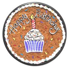 birthday cookie cake birthday cookie cake with cupcake design the great cookie