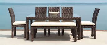 Rattan Patio Dining Set Patio Dining Sets Crafted Of Aluminum Cast Aluminum Wicker Teak