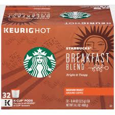 Blend K Cups Starbucks Breakfast Blend Medium Roast Ground Coffee K Cup Pods