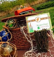 Fishing Gift Basket Fishing Birthday Party Printables Supplies Birdsparty Com