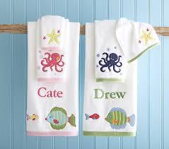 Children S Pottery Barn Bathroom Ocean Towels Pottery Barn Kids Pertaining To Children U0027s
