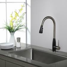 kitchen faucet set kraususa com kraus geo arch 8482 single handle pull down kitchen faucet with soap dispenser in