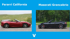 maserati california ferrari california v maserati grancabrio youtube