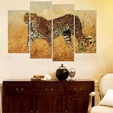 african animals painting leopard lion elephant zebra print on