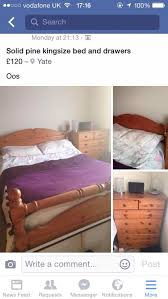 used solid pine kingsize bed frame in bs37 yate for 100 00 u2013 shpock