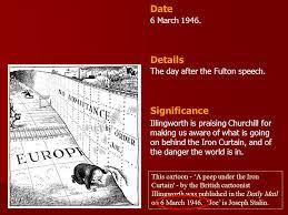 Winston Churchill Iron Curtain Speech Meaning This Cartoon U0027a Peep Under The Iron Curtain U0027 By The British