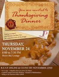 thanksgiving dinner with penn college houses academic services