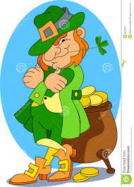 a leprechaun and his pot of gold royalty free stock photography
