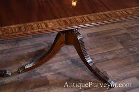 Duncan Phyfe Dining Room Set by Traditional Double Pedestal Mahogany Dining Table With 2 Leaves
