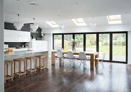 galley kitchen extension ideas clair and simon wills extended the rear of the property to change