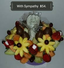edible attangements fruit flowers with deepest sympathy funeral edible arrangements