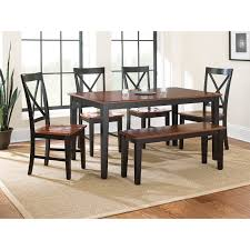 steve silver kingston 6 piece dining table set walmart com
