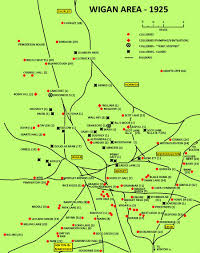 Lancashire England Map by Wigan Coalfield Northern Mine Research Society