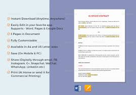 band contract template 6 free word pdf documents download